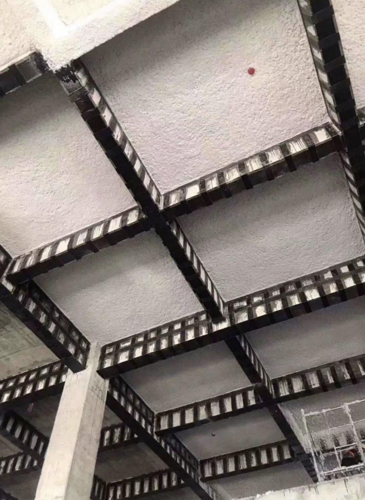厂房无机纤维喷涂效果