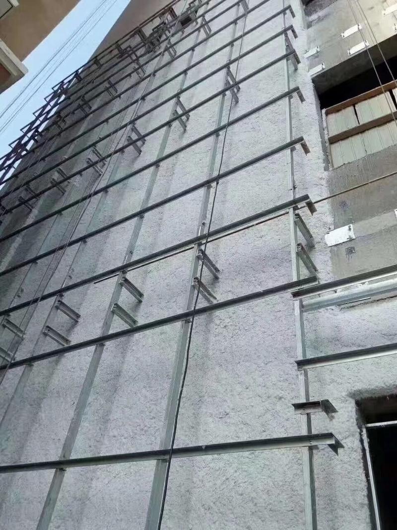 幕墙无机纤维喷涂效果